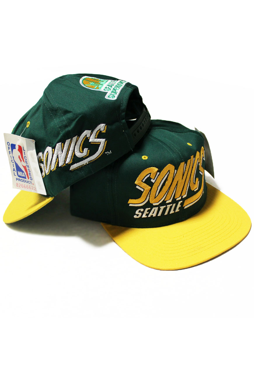 Shop    Vintage   Branded    Snapbacks    Vintage Seattle Super Sonics AJD  Snapback - Agora Clothing - Shop - Products 10572e1a283