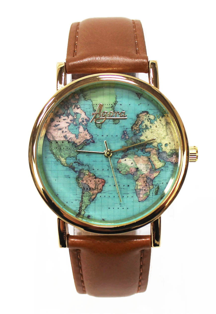 Watch With World Map Shop :: Agora :: Watches :: World Map Wrist Watch   Agora Clothing