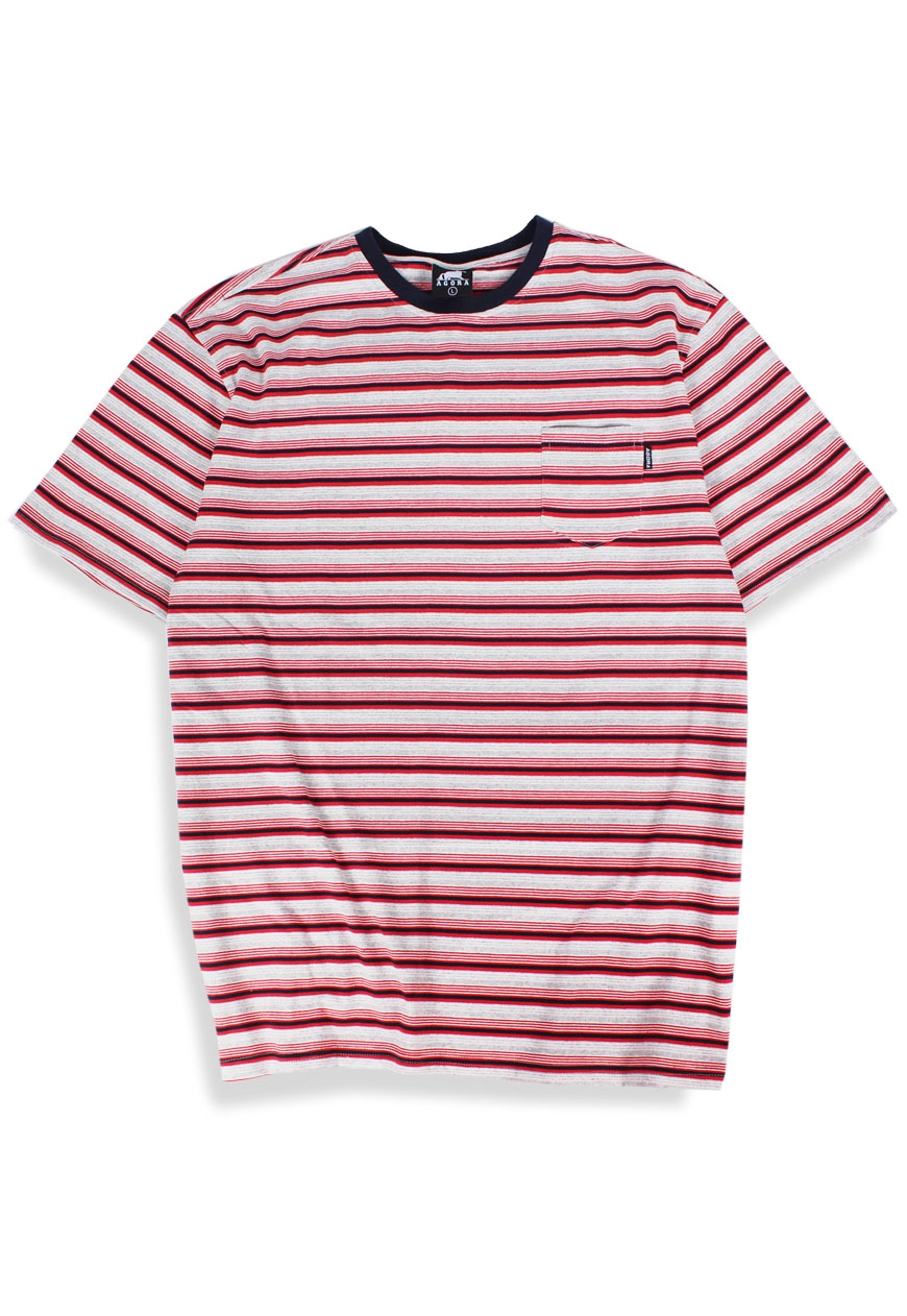 2fd5a91a Shop :: Agora :: Tops :: Red Striped Pocket Tee - Agora Clothing - Shop -  Products