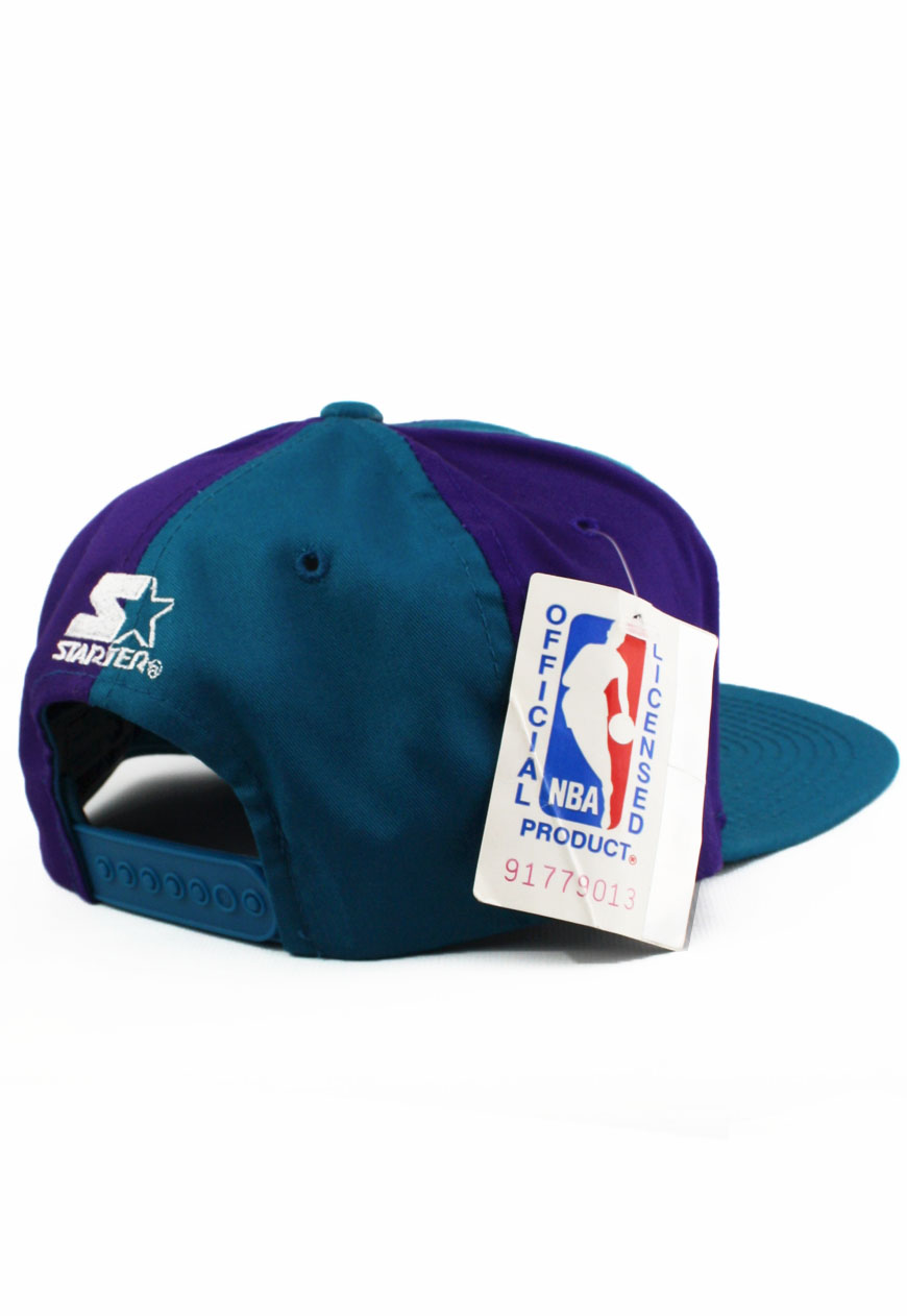a5eb0f94450ab Vintage Snapbacks Charlotte Hornets Starter Snapback Hat