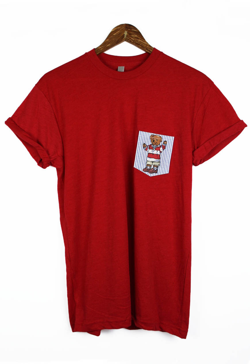 Polo bear pocket tee t shirt ralph lauren for Polo t shirts with pocket online