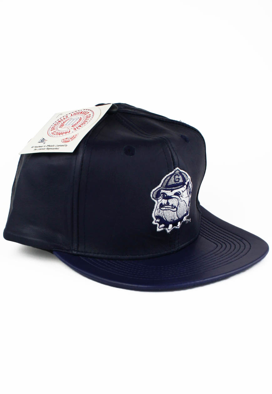 Vintage Georgetown Hoyas Leather Logo 7 Snapback Hat