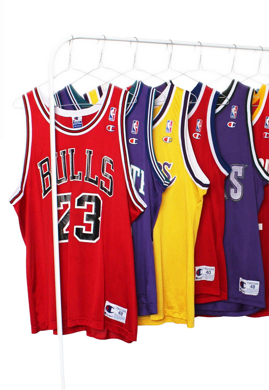 big sale 06316 efacc Vintage Champion NBA Basketball Jerseys