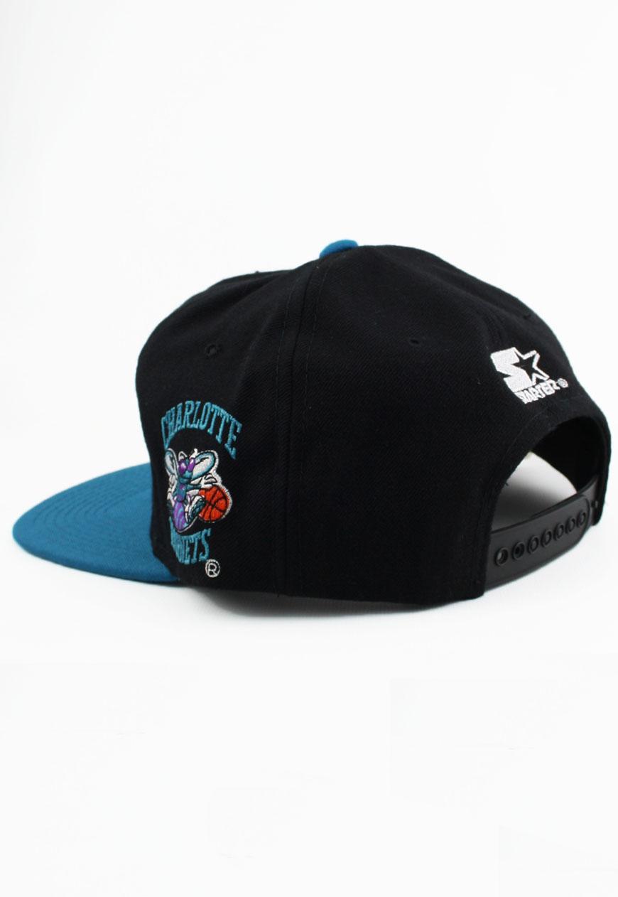 663b542a5a2b1 Vintage Charlotte Hornets Starter Snapbacks Graffiti Snapback Hat