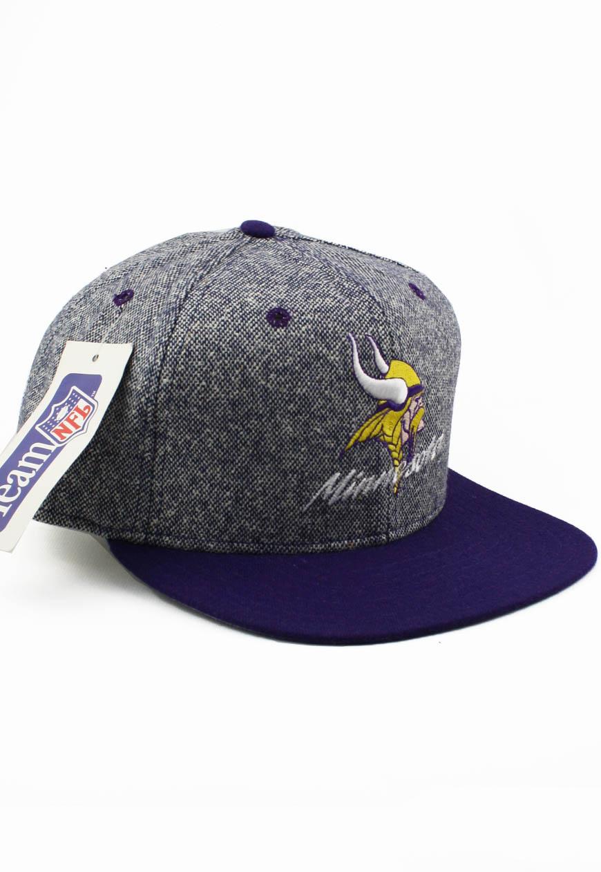 Vintage New Era Snapbacks Salt N Pepper Minnesota Vikings Snapback Hat 37f54f479d1