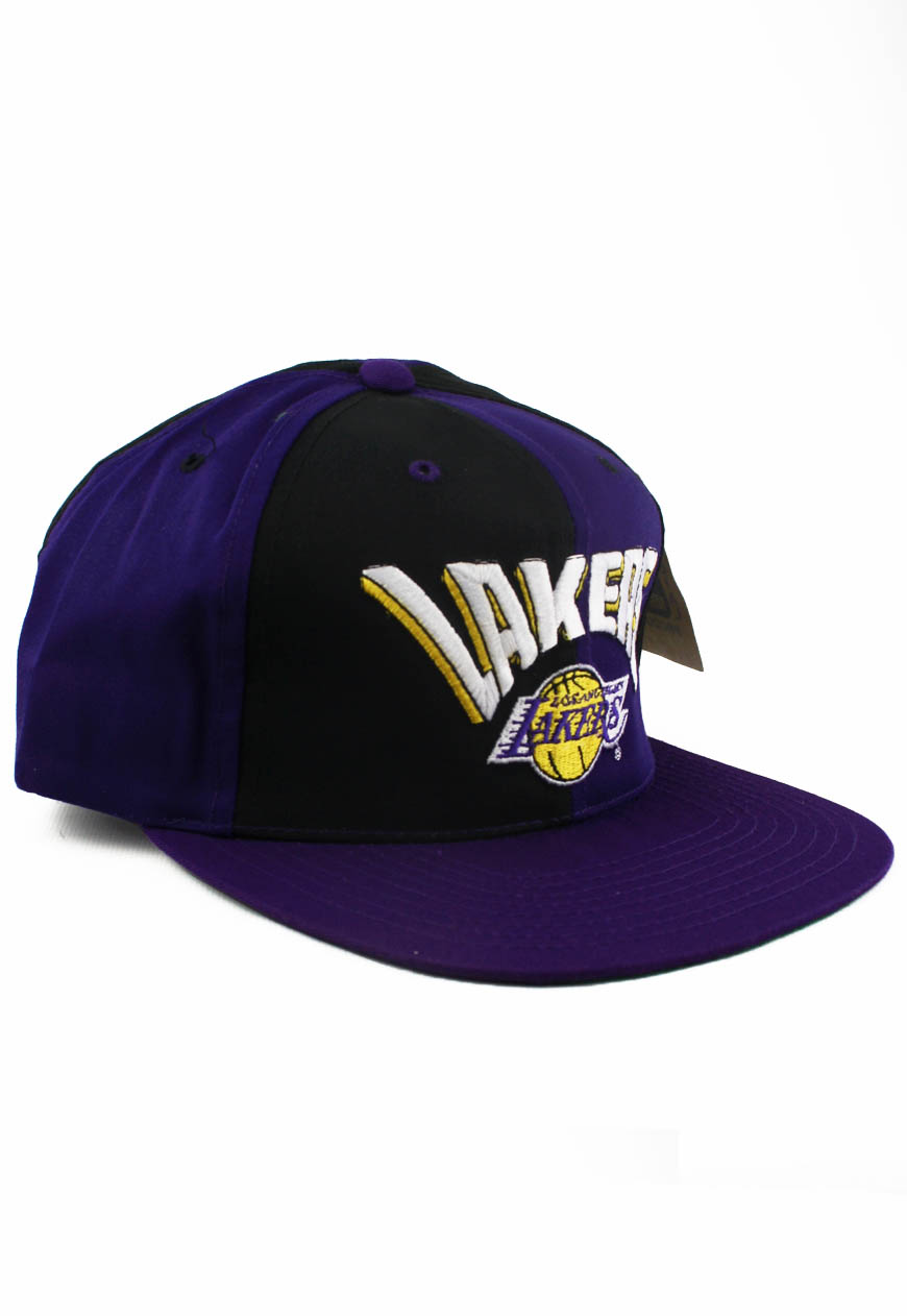 381e7484 Vintage Los Angeles LA Lakers AJD Snapback Hat