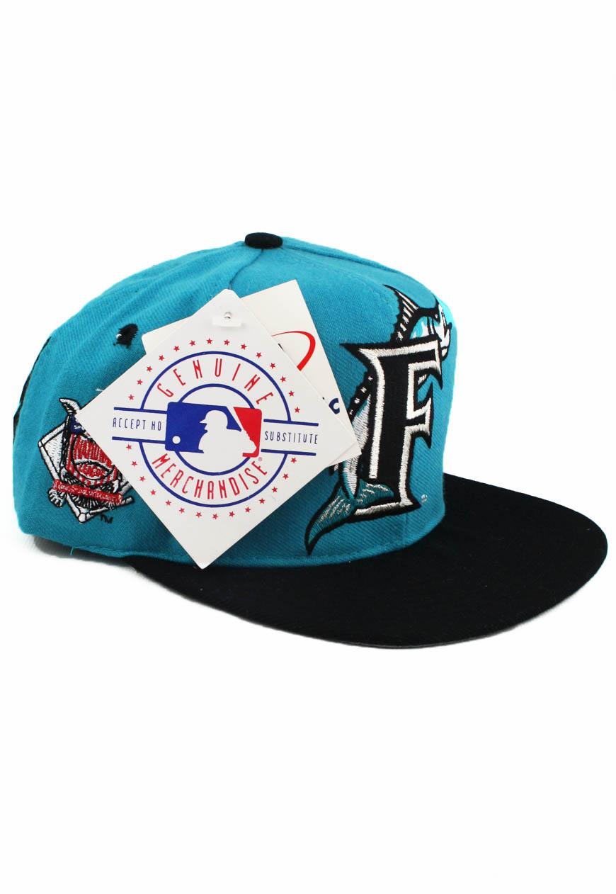 Vintage Florida Marlins Snapbacks Big Logo Hat