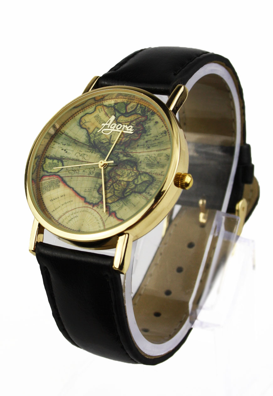 Americas Map Wrist Watch Atlas Watch