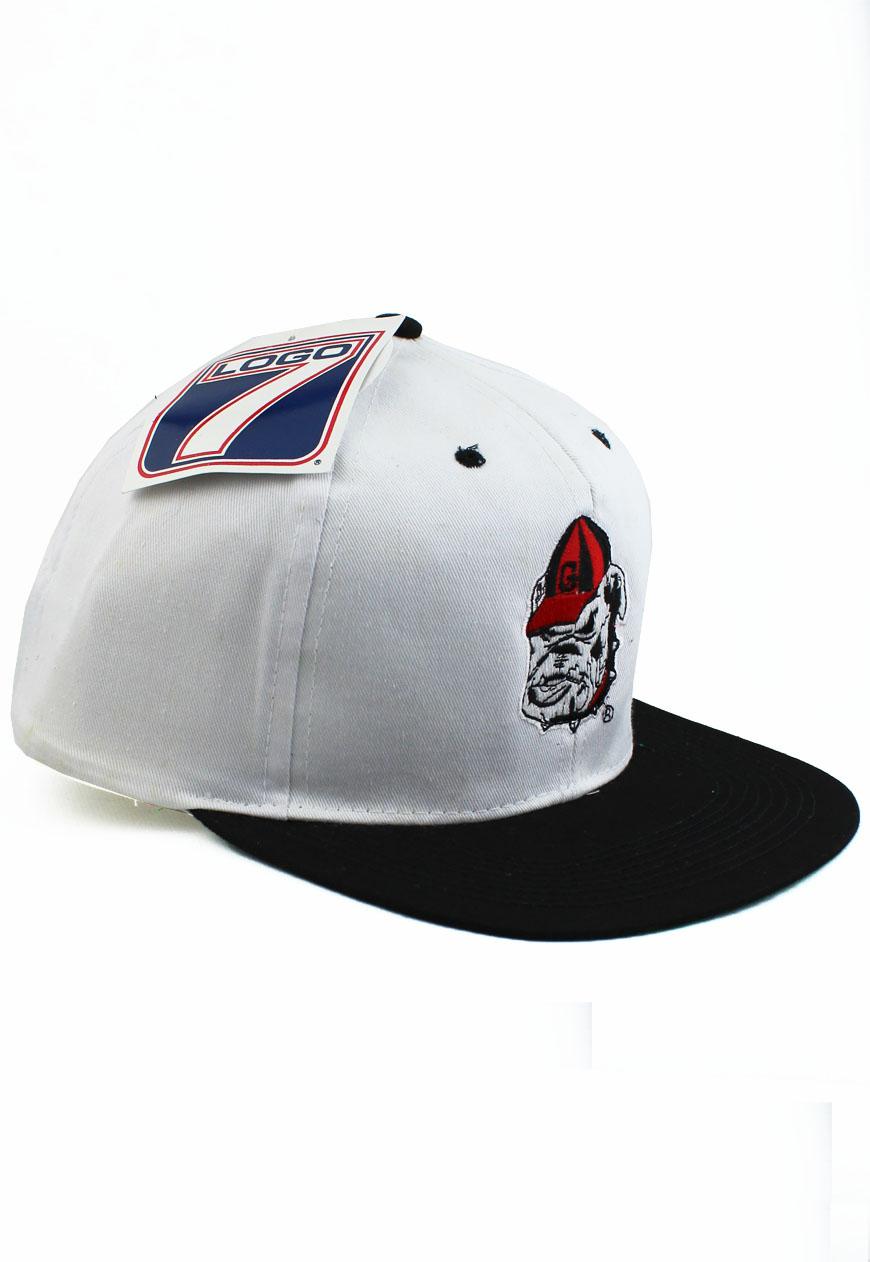 Vintage Georgia Bulldogs Logo 7 Snapback Hat 08baf480e3e