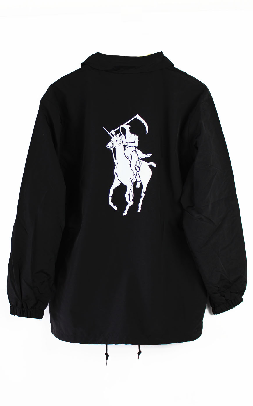 Grim reaper polo coach jacket for Polo shirt with jacket