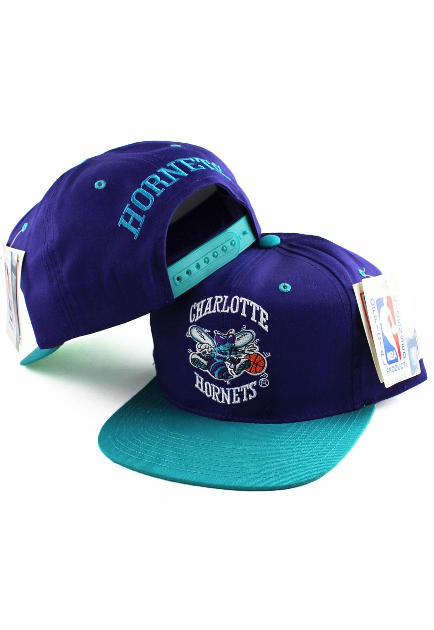eeb8520f08a Shop    Vintage   Branded    Snapbacks    Vintage Charlotte Hornets Logo 7  Snapback Hat - Agora Clothing - Shop - Products