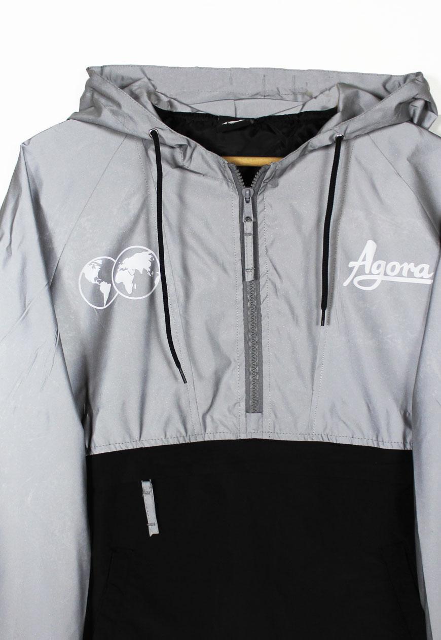 Agora Clothing Uk Shop Anoraks Reflective Pullover Jacket